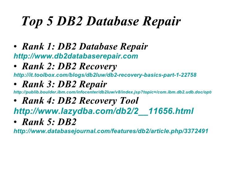 Top 5 Db2 Database Repair