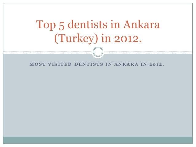 Top 5 dentists in Ankara