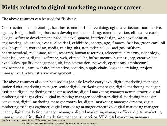 Cover letter for digital marketing manager