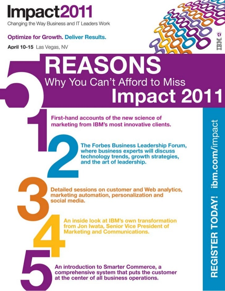 Top 5 Reasons for Marketers to Attend Impact 2011