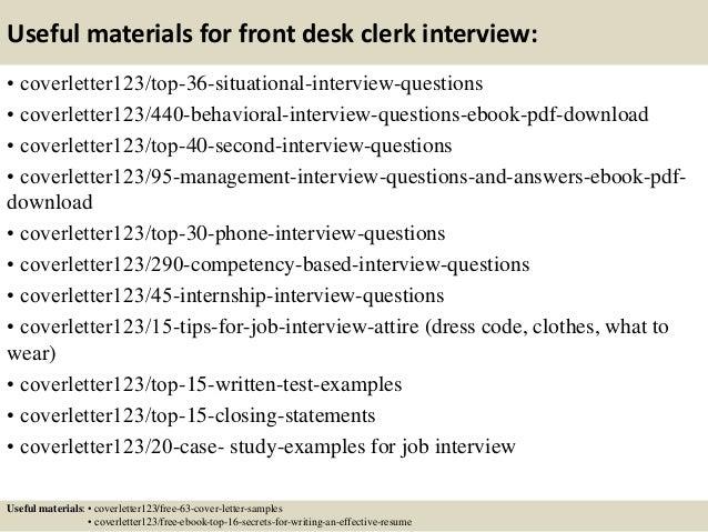 top 5 front desk clerk cover letter samples 12 useful materials for cover letter front desk