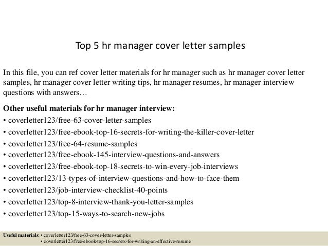 hr manager cover letter samplesin this file you can ref cover letter