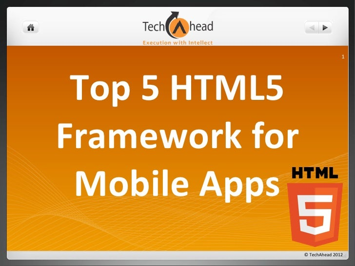 Top 5 HTML5 Framework for Mobile Apps