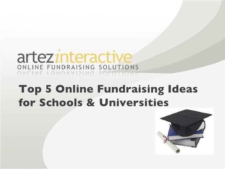 Top 5 Online Fundraising Ideas  for Schools & Universities
