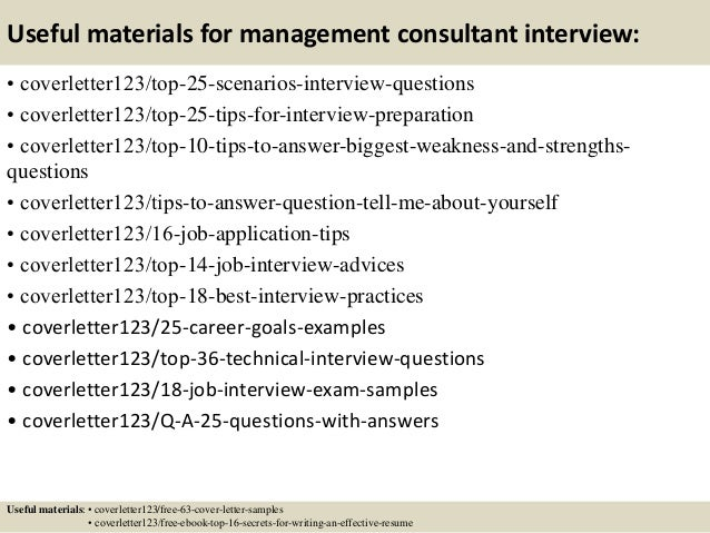 Top 5 management consultant cover letter samples