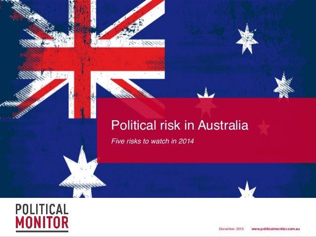 Top 5 political risks for Australia -  2014