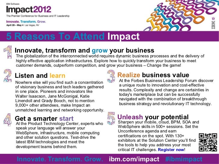 Top 5 reasons to attend IBM Impact