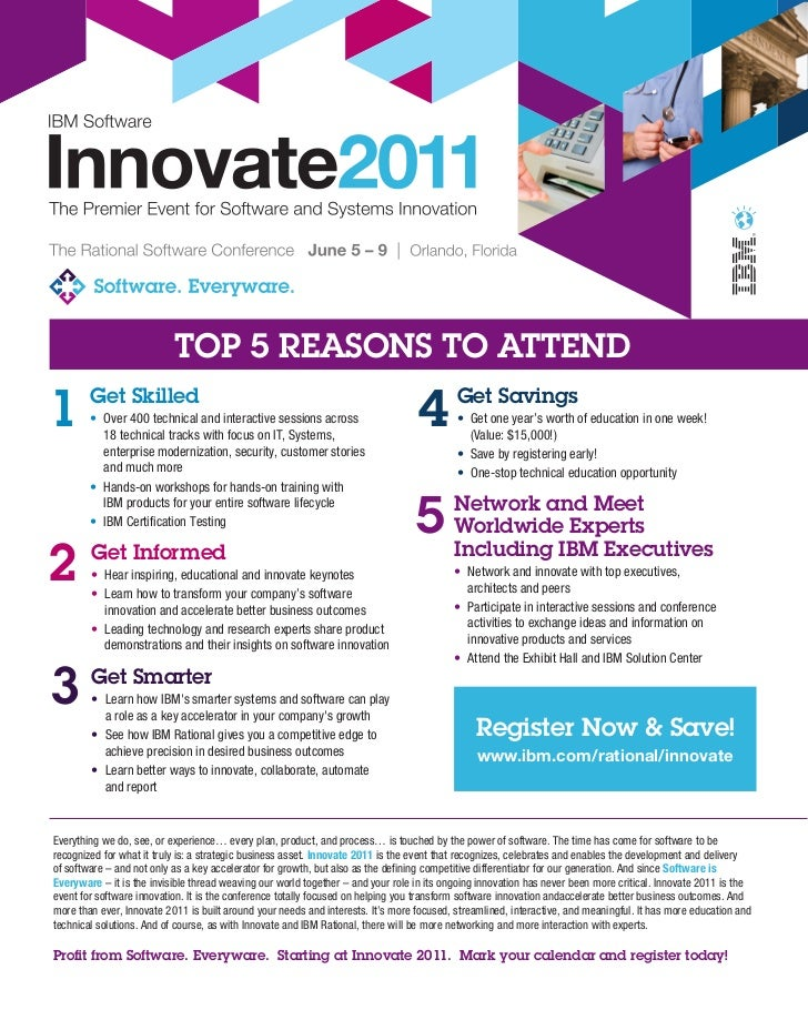 Top 5 reasons to attend Innovate 2011