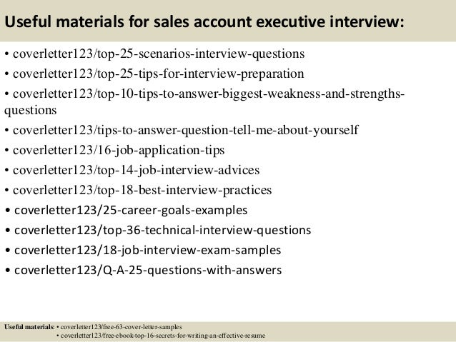 Sample cover letter for sales account executive