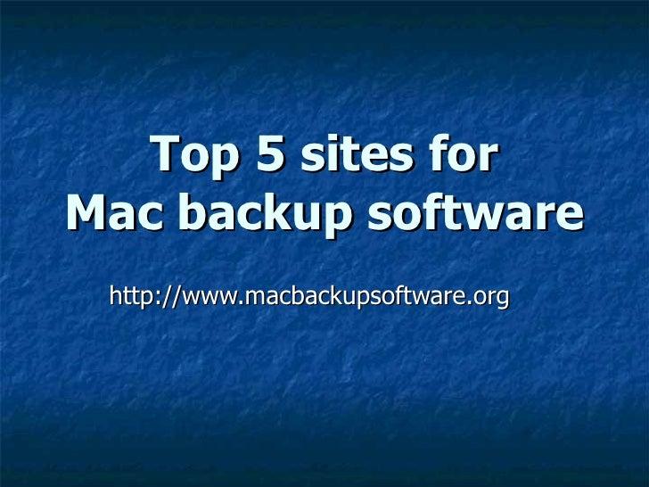 Top 5 Mac Backup Software Sites