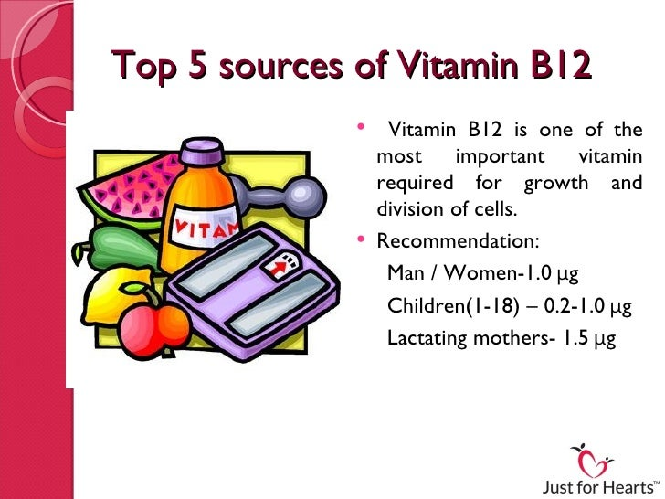 Top 5 sources of vitamin b12