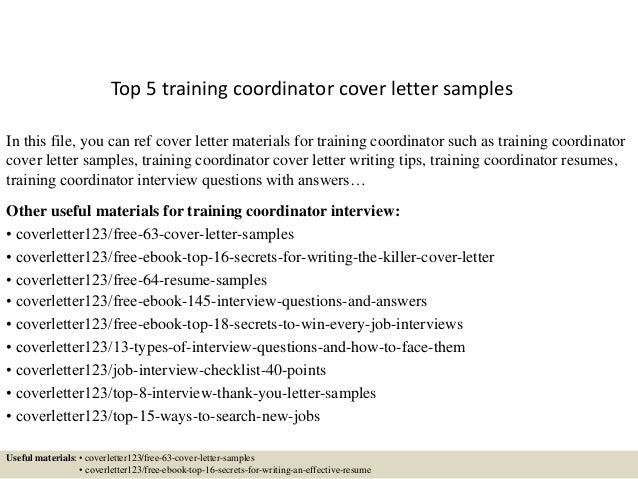 ... Coordinator Cover Letter Samples. Best Fitness ...