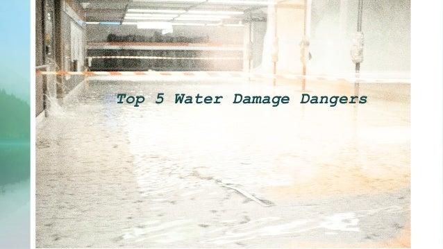 Top 5 water damage dangers