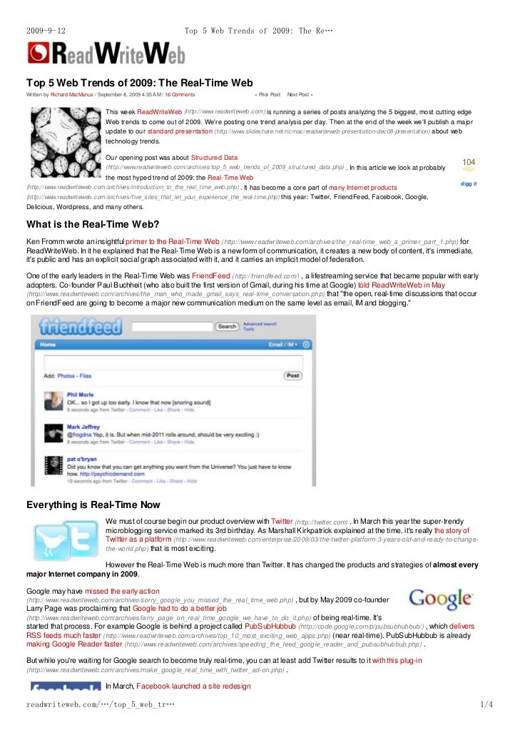 2009-9-12                                                       Top 5 Web Trends of 2009: The Re…     Top 5 Web Trends of ...