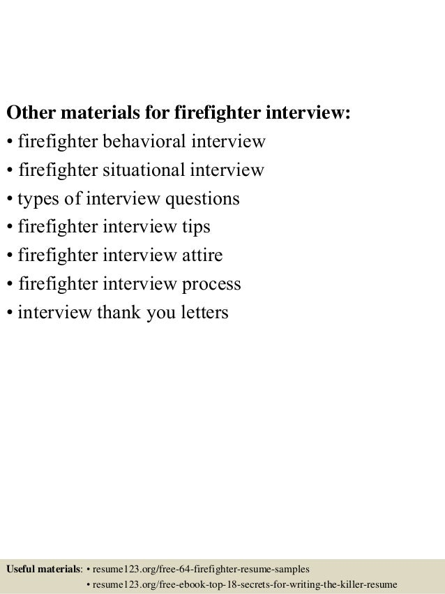Chronicling The Journey To Become A Firefighter In . . Resume Templates  Sample Resumes . . . This Free Sample Cover Letter For U2026