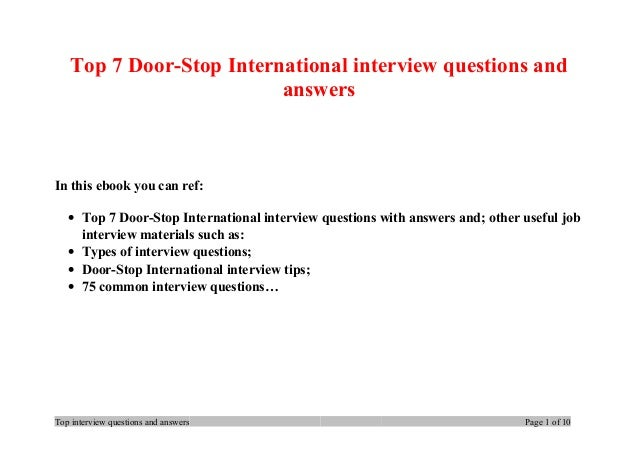 Top 7 door stop international interview questions and answers