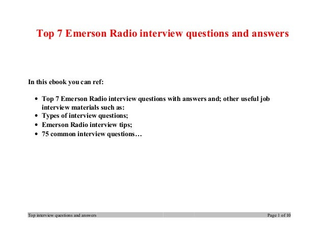 emerson essay question answers Full answer in the introduction of the essay nature, emerson argues that all the questions that people have developed about the universe, including those regarding.