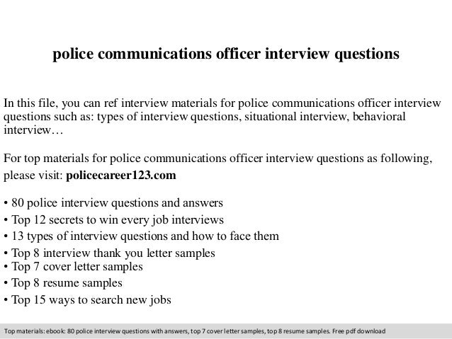 Chief of police resume examples