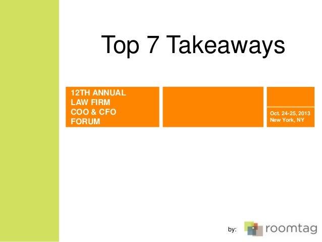 COO & CFO Forum: Top 7 Takeaways