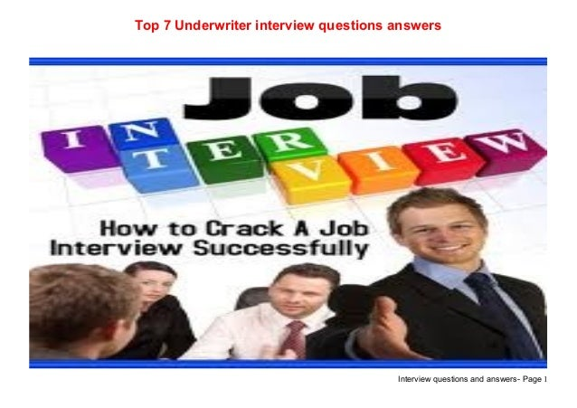 Top 7 underwriter interview questions answers