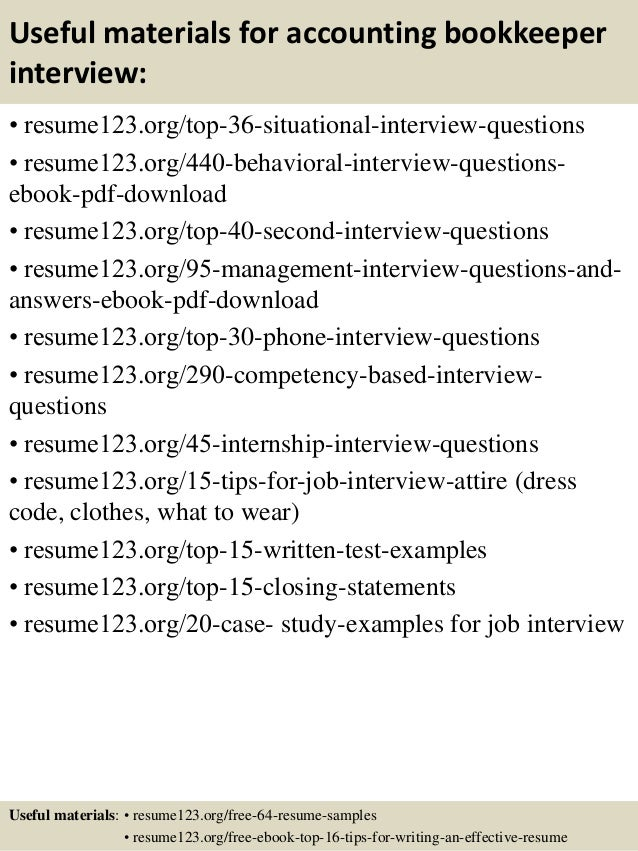 top  accounting bookkeeper resume samples