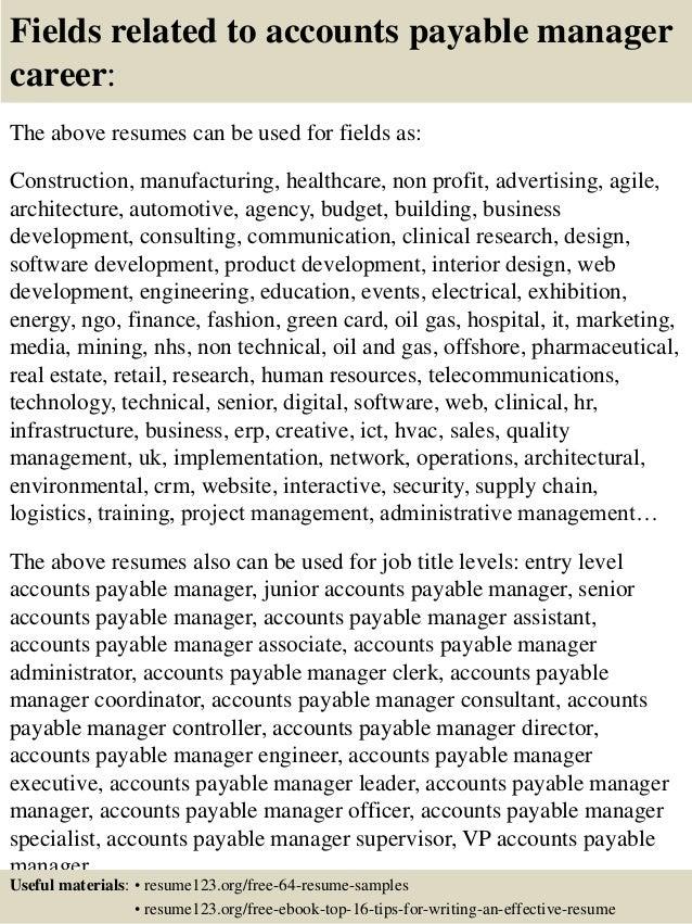 sample of resume objectives for career change  payable resume    payable resume objective