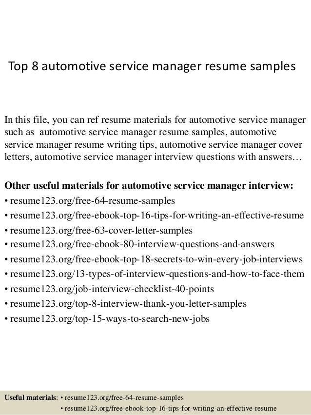 Automotive f i manager resume
