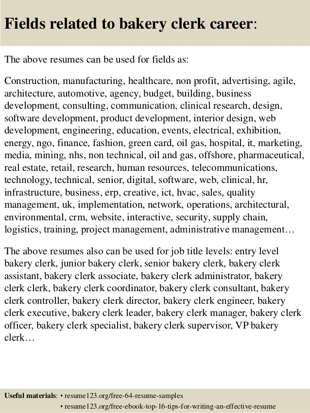 Resume for bakery job baker cover letter sample samples and templates altavistaventures Choice Image