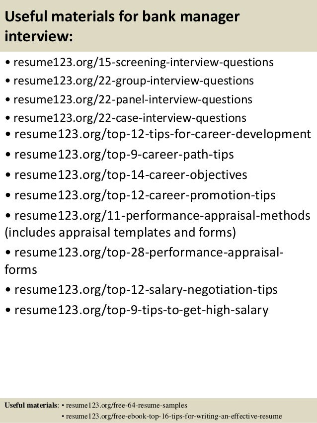 bank administration resume - Template