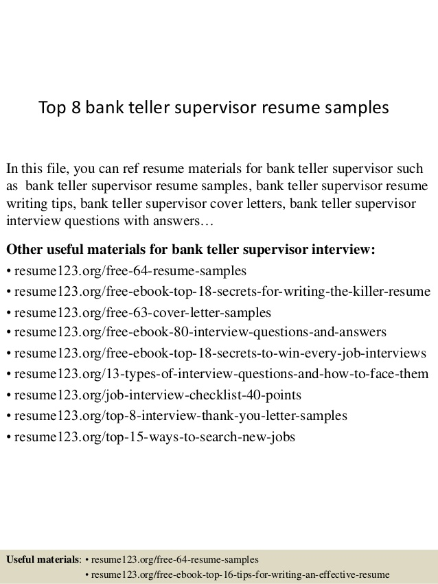 Resume Example Bank Teller Head Teller Free Resume Example Bank Template  Bank Teller Resume Example  Head Teller Resume