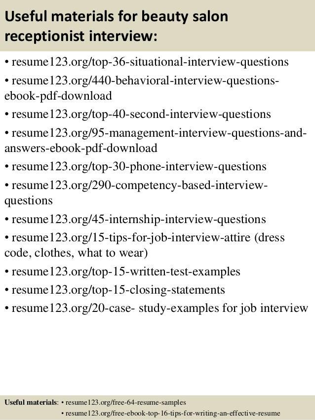 resume templates salon receptionist. hairdresser resume sample ...