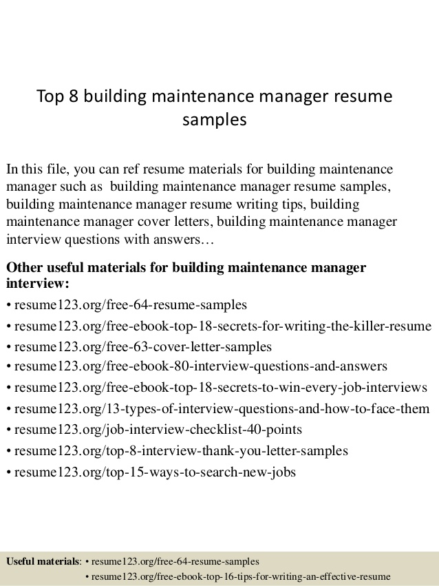building inspector resume