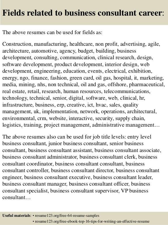 business consultant resume berathen com