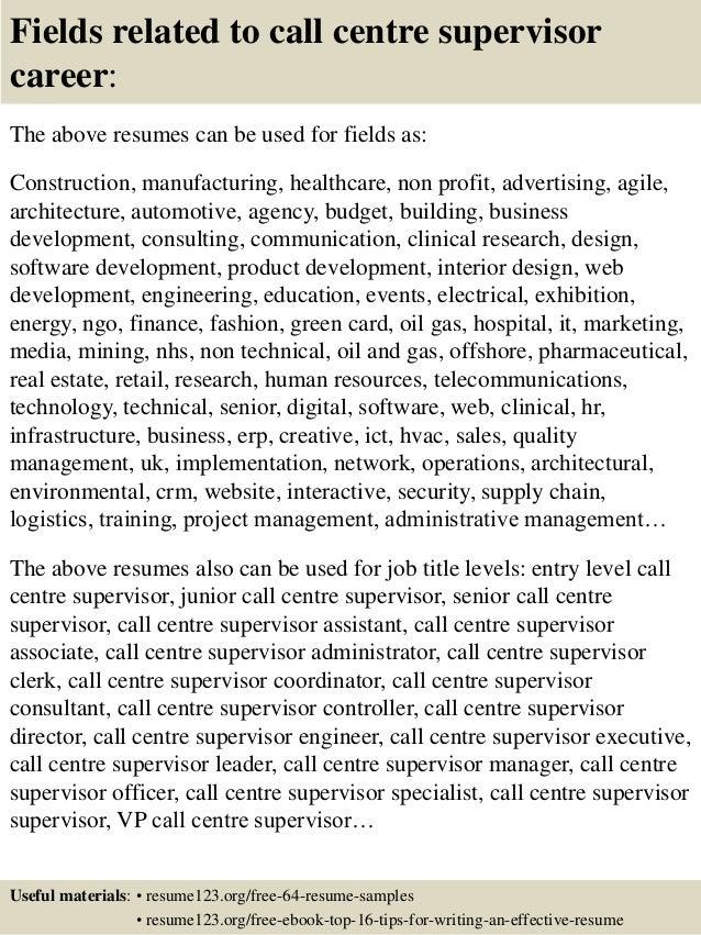 Sales Call Center Resume