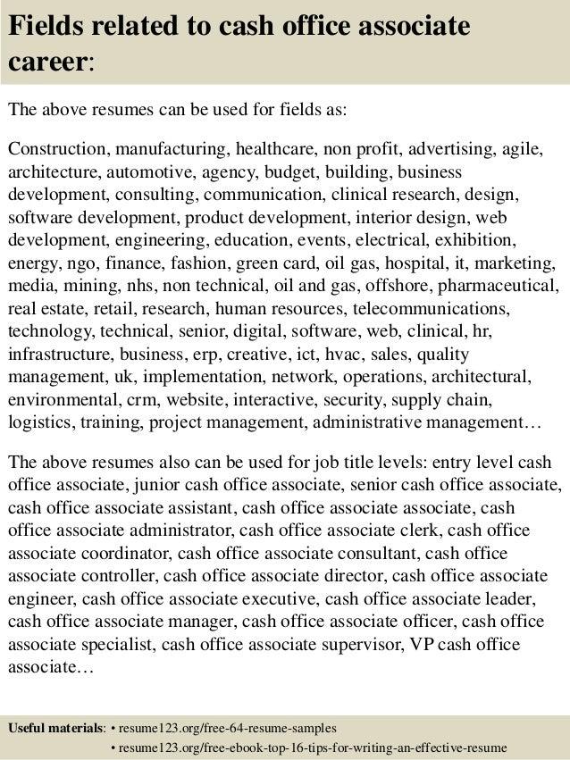 Cash Management Officer Sample Resume