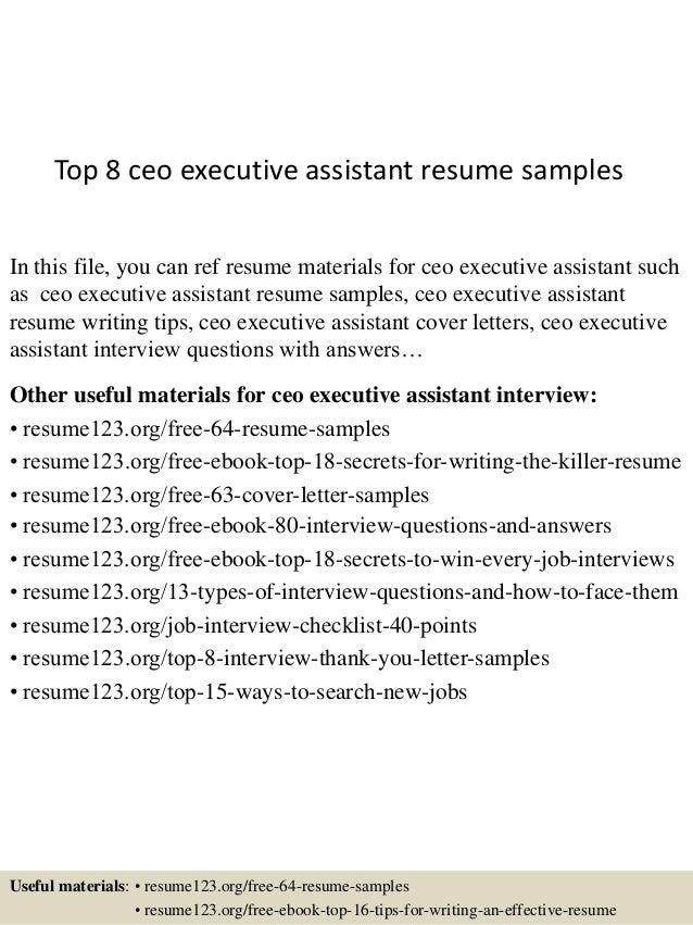 28+ [ C Level Executive Assistant Resume Sample ]   Sample ...