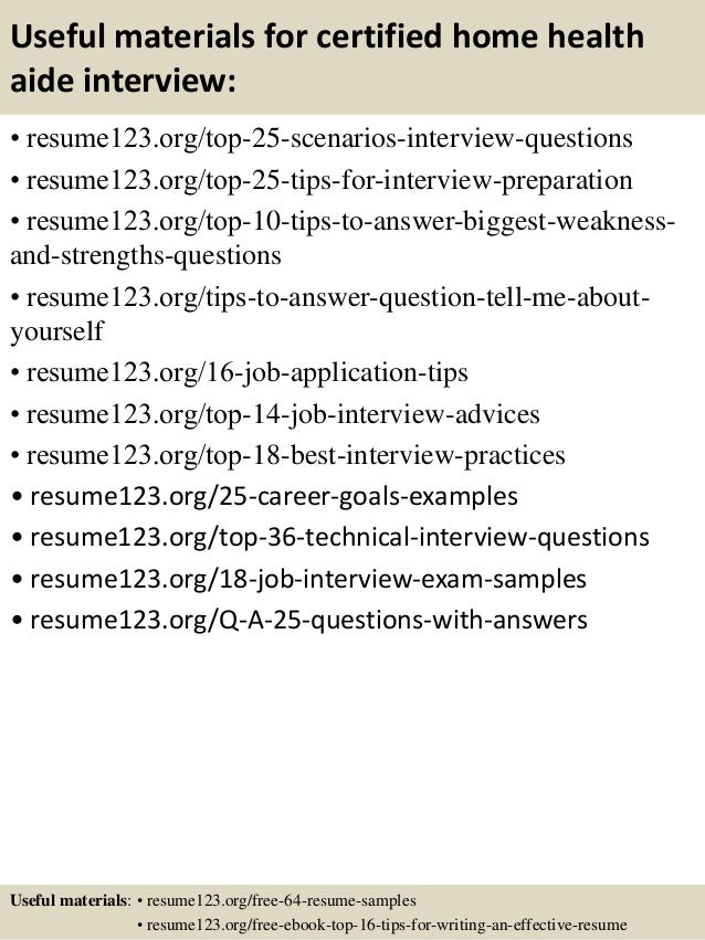 useful materials for certified home health aide interview resume123 ...