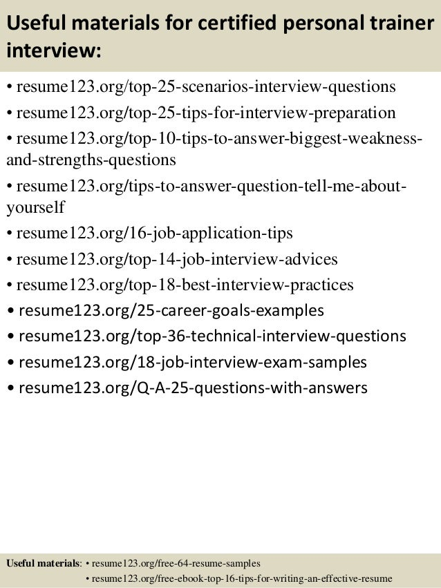 8141036: Personal Trainer Resume Objective \u2013 Personal Trainer .