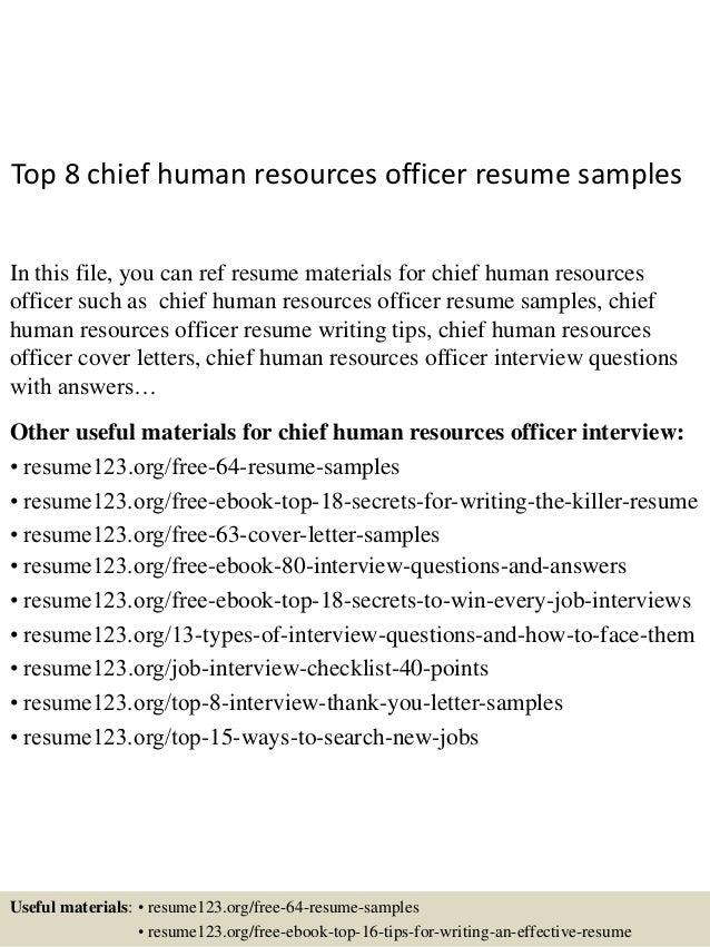 chief hr officer sample resume