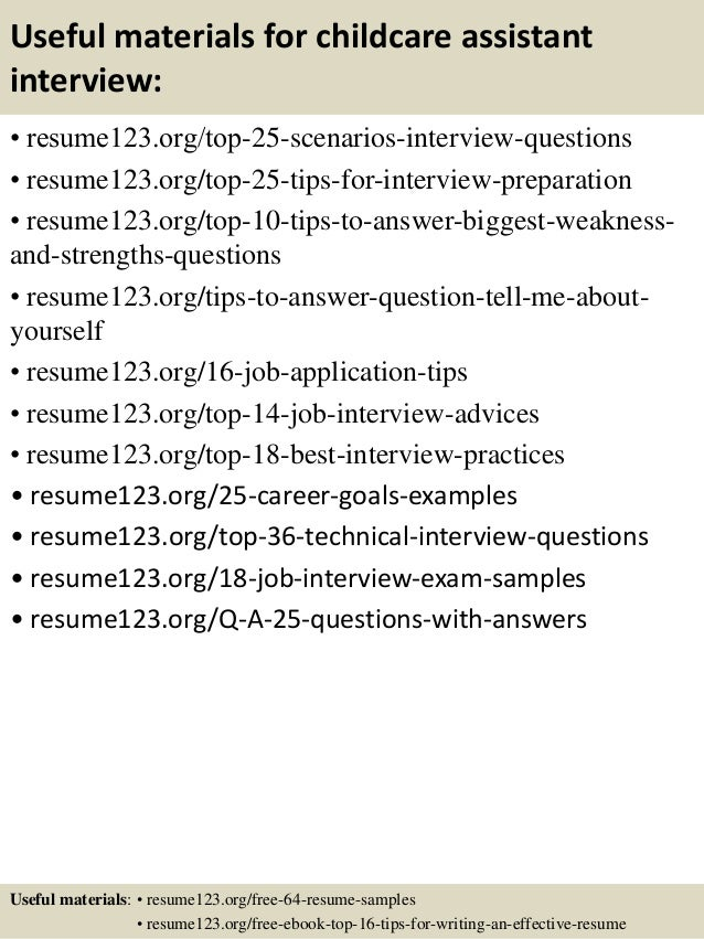 top childcare assistant resume samples