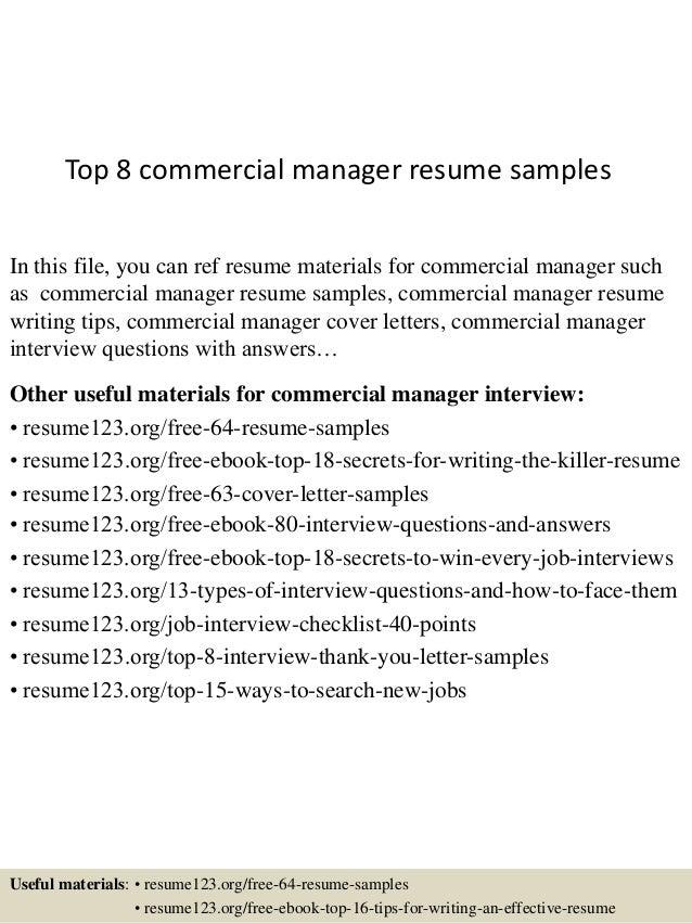 Sample resume for commercial real estate agent