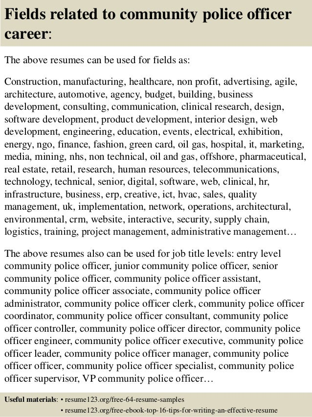 Officer Resume Example Jobresumesamplecom516policeofficerresumeexample Job Samples 16