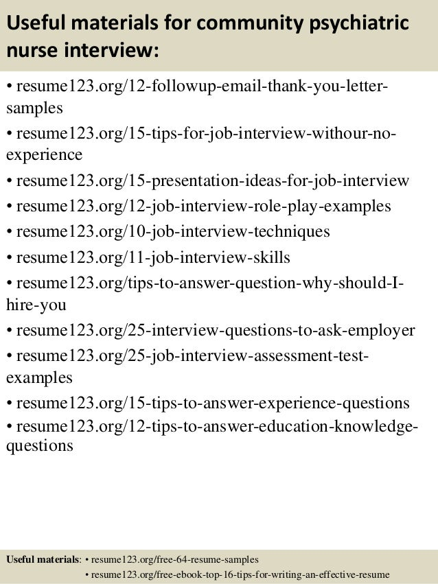 top  community psychiatric nurse resume samples       useful materials for community psychiatric nurse