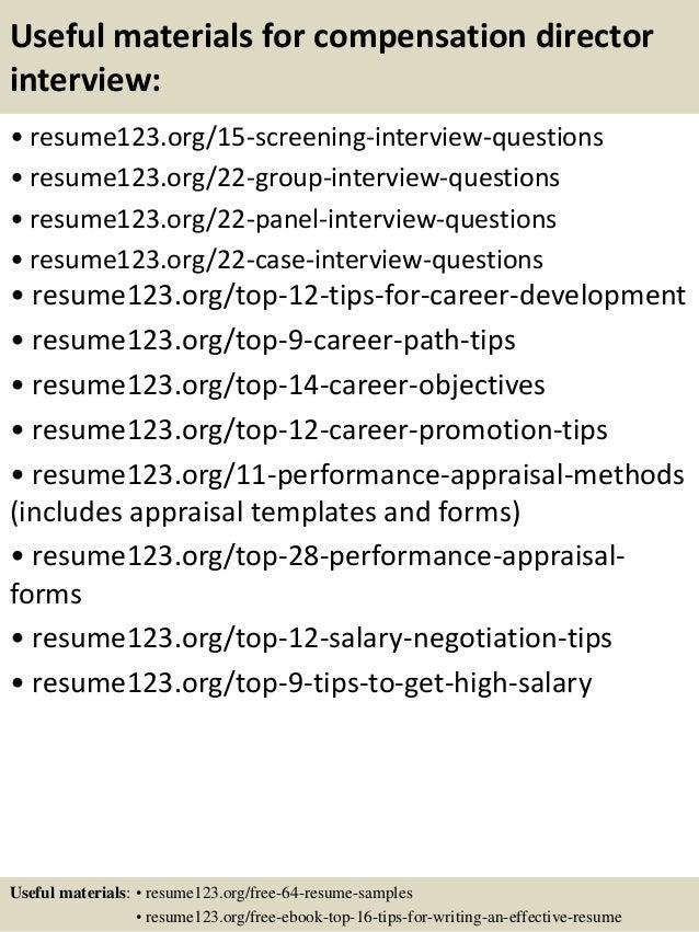 Compensation director resume – Hr Manager Resume Samples