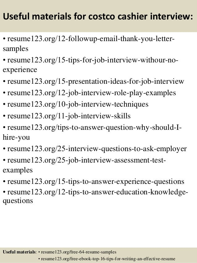 top costco cashier resume samples