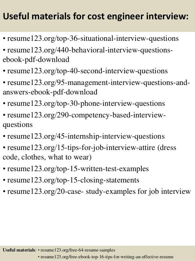 top 8 cost engineer resume sles