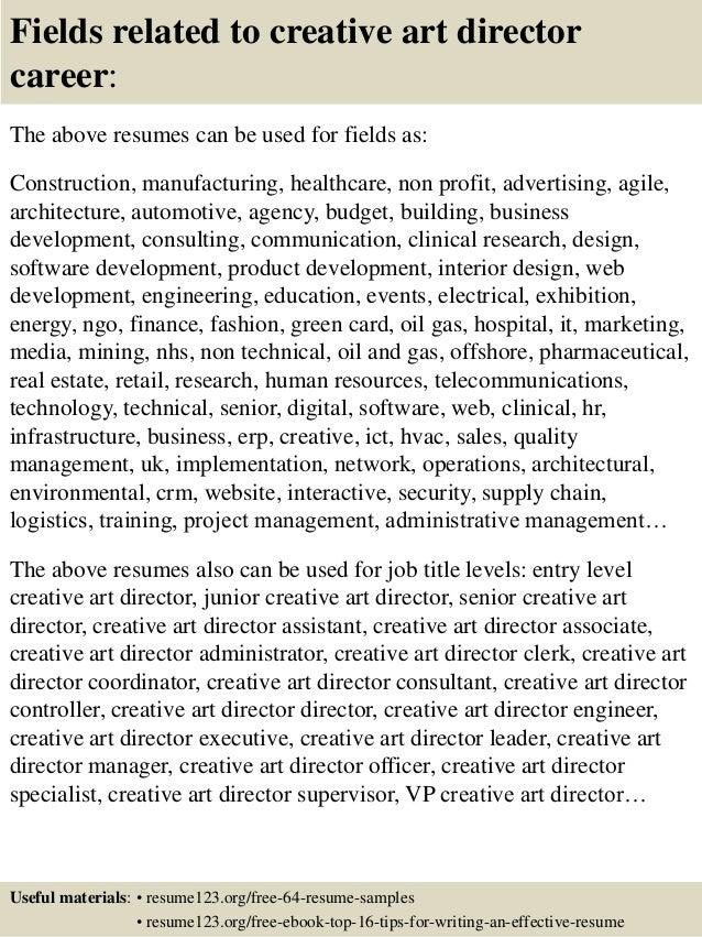 executive creative director resume