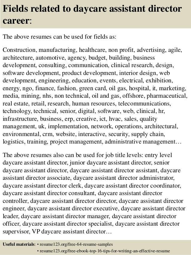 daycare director resume