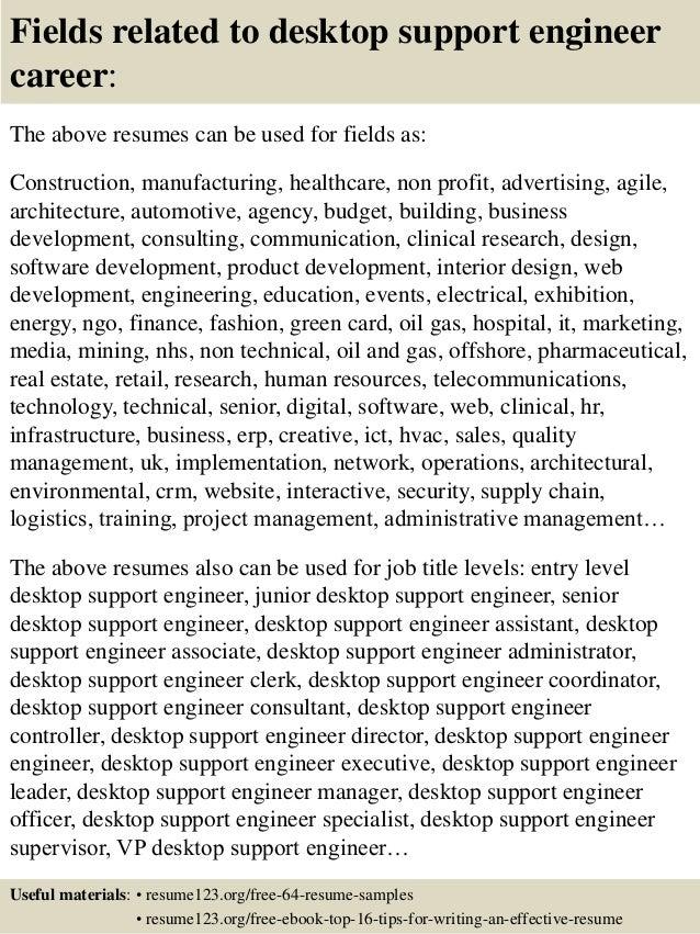 Ict Support Engineer Resume
