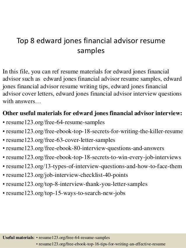 financial advisor sample resume - Akba.greenw.co